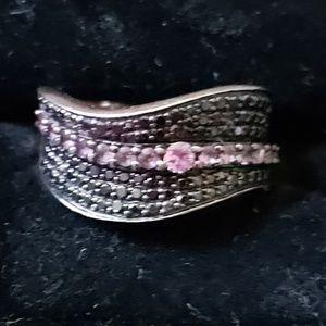14kt rose gold Levian black diamond ring